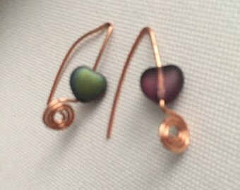 Spiral Heart Earrings