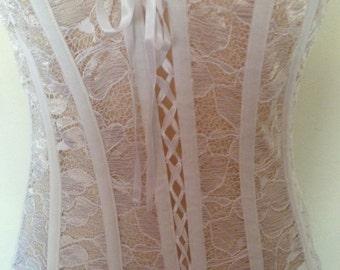 Lace & Satin Corset Size 34