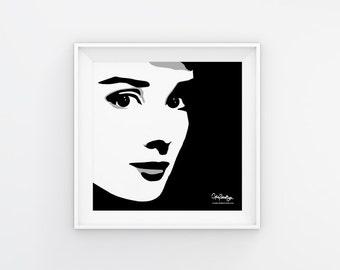 Audrey Hepburn Art Print Download