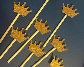 2 dozen of Royal Prince/princess cupcake toppers