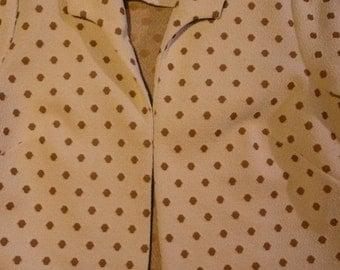 Vintage 80s Crimplene  dress and jacket  size EU 42/44