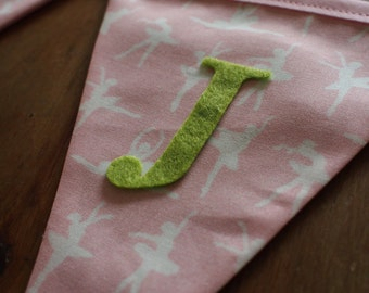 Pink Ballet - Personalised name (optional with age) bunting