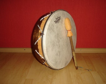 14'' Hand Drum with stick