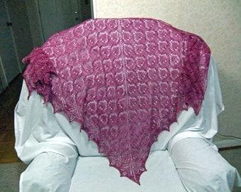 Beaded lace triangle shawl