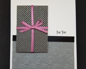 Elegant Embossed Birthday Card