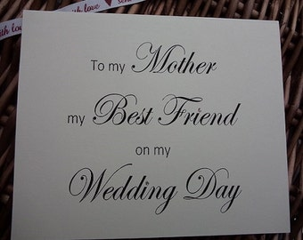 To My Mother Best Friend Wedding Card Days Cards