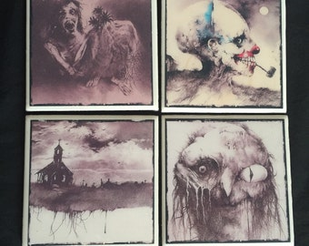Scary Stories You Tell in the Dark Coasters Set of 4