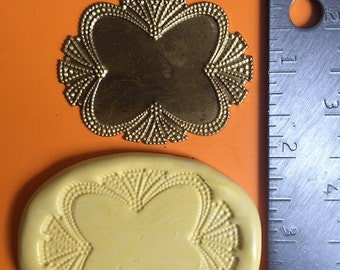 Vintage Art Deco Plaque Medallion Mold for Gumpaste Fondant Chocolate Polymer Clay Resin Soap