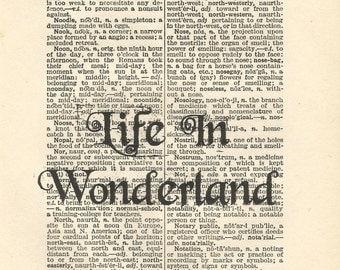 alice in wonderland vintage print wall art