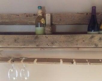Nautical Reclaimed Wood Wine Rack