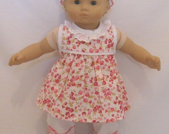 """Bitty Baby Flower Dress Set - Fits 15-16"""" American Girl Bitty Baby and Standard 15-16"""" Sized Dolls"""