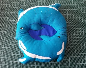 DIY material for dolphins pincushion (pattern and fabric only)