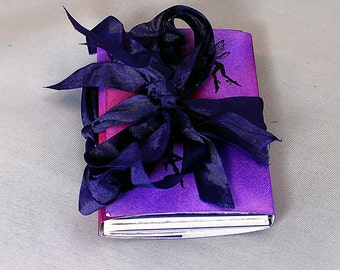 Handmade Purple Fairy Travel Journal - Art Journal - Purple Journal - Fairy Art Journal - Mixed Media Journal - Mixed Media Travel Journal