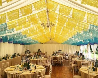 """PAPEL PICADO """"Mexican Wedding - Personalised in Custom Colours"""" 