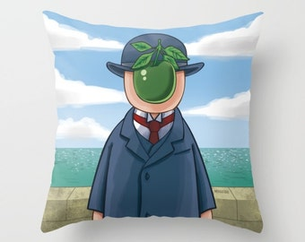 Magritte Pillow  / The Son of Man Pillow