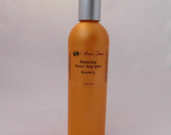 Strawberry Body Lotion, Moisturizing lotion, Shea Butter, Cocoa Butter, Natural