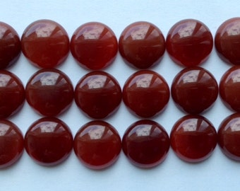 13mm Red Carnelian round cab Lot