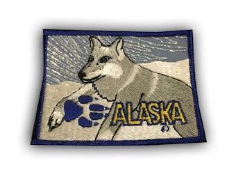 Alaska Patch - Husky Sled Race Dog
