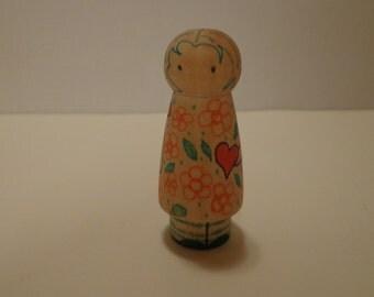 Heart Hug Child: Laura Peg Doll