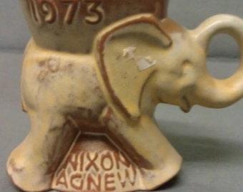 Frankoma GOP 1975 Nixon-Agnew Elephant Holder