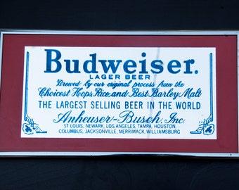 Vintage Budweiser Mirror