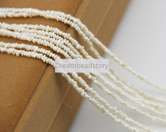 Pearl Seed Beads, 1.5-2mm Natural Small High Luster Pearl Seed Beads for Tassel/ Mala Jewelry Making (XMZ1)