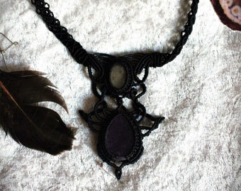 necklace with Amethyst and Moonstone