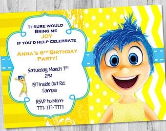 Joy, Inside Out Birthday Invitation