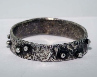 Reticulated Silver Band Ring - Size 8