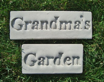 "Grandma's Garden Décor (Featuring Everwood Garden Art's ""Poetic Pavers"")"
