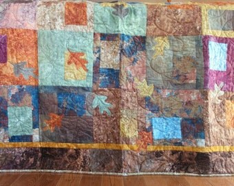Fallen Leaves Quilt/Blanket/Bed Quilt