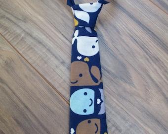 Little Guy Ties, Happy Whales, Newborn - 2T, Fabric Ties, Velcro Ties, Neckties
