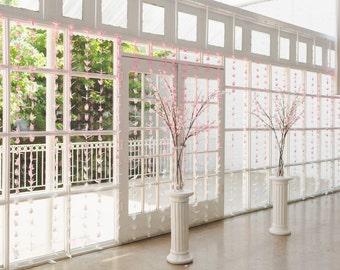 OOAK 1,000 ombre origami paper cranes, wedding decorations, origami crane hanging decor, Senbazuru, blush origami cranes