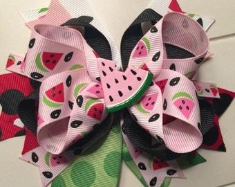 Watermelon Picnic Hair Bow