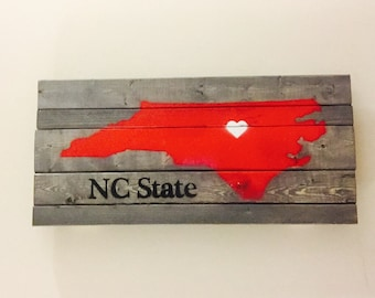 NC State Wood Sign