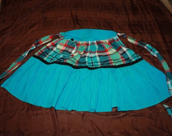 Pleated and Plaid Apron