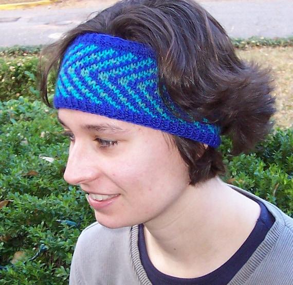 Knitting PATTERN, Knit headband pattern, Fair Isle headband ...