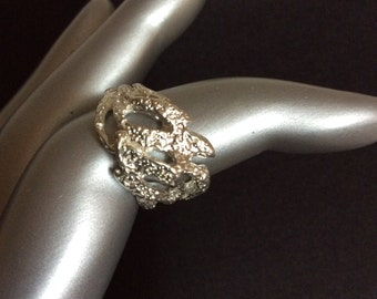 Sterling Silver Filigree Ring Size 5