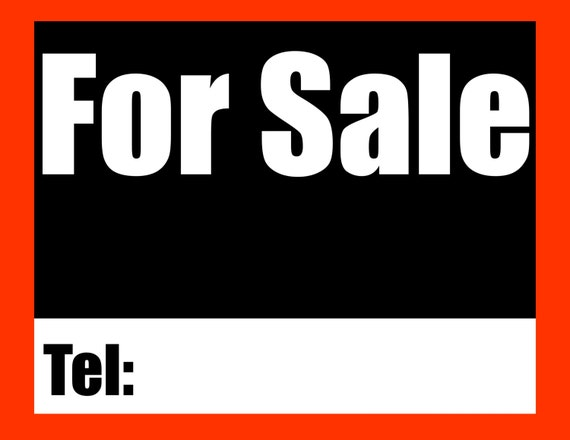 Printable Sign For Sale: Items Similar To Printable For Sale Sign, Digital Signs