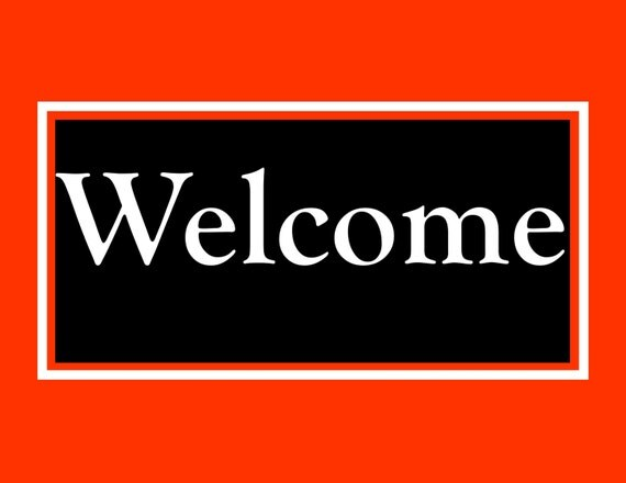 Items similar to Printable Welcome Sign, Digital Signs ...