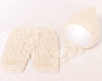 UK Seller, Newborn Alpaca Pixie Pant Set, Newborn Pants, Newborn Pixie Hat, Newborn Bonnet, Newborn Pant Set, Photo Props, Newborn prop