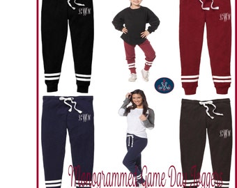Monogrammed Joggers,Personalized Joggers,Womens joggers,Girls joggers, Monogrammed Sweatpants, Personalized Sweatpants, joggers - AA03