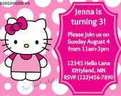 Hello Kitty Digital Invitation