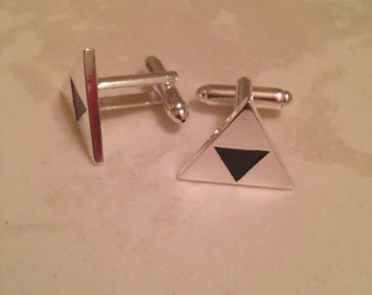 The Legend Of Zelda Triforce Cufflinks In Silver