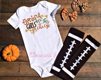 baby girl thanksgiving outfit, thanksgiving toddler clothes, fall baby shower gift, thanksgiving bodysuit, fall baby clothes, the prettiest