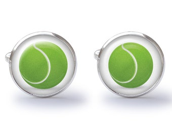 Tennis Cufflinks (Pair) Handmade