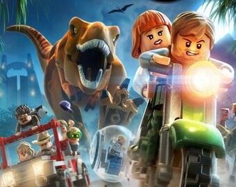 Lego Jurassic Park Fridge Magnet