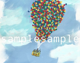 Disney UP Balloon Painting