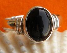 Black onyx ring,Sterling Silver Toe Ring, Black Stone Toe Ring, Silver Toe Ring,Sterling Silver Toe Ring,Gypsy Look,handmade Jaipur jewelry