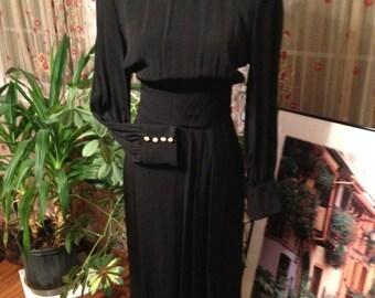 Elegant Vintage Little Black Dress